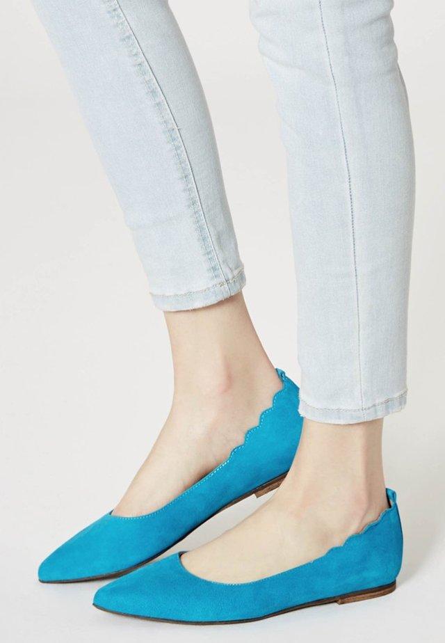 Ballet pumps - turquoise