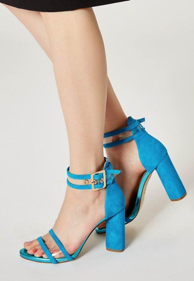Sandály na vysokém podpatku - turquoise