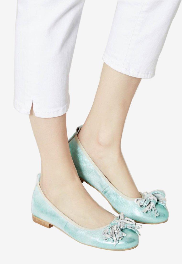 myMo - Ballerinasko - turquoise metallic