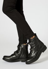 myMo - Lace-up ankle boots - black - 0