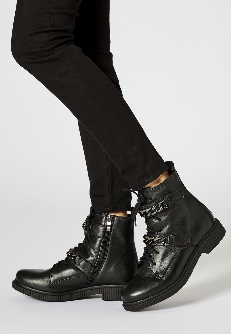 myMo - Lace-up ankle boots - black