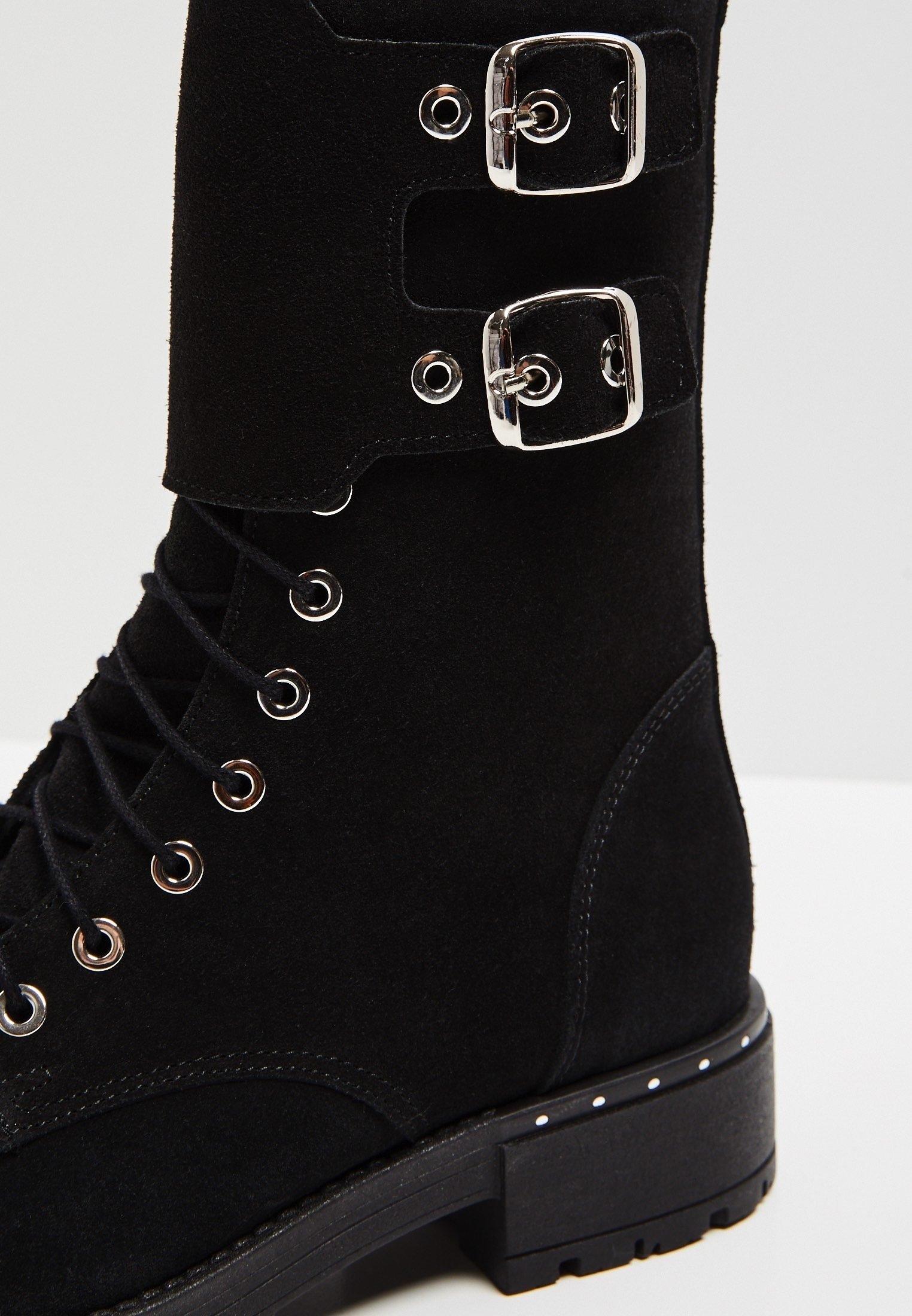 myMo Schnürstiefelette black