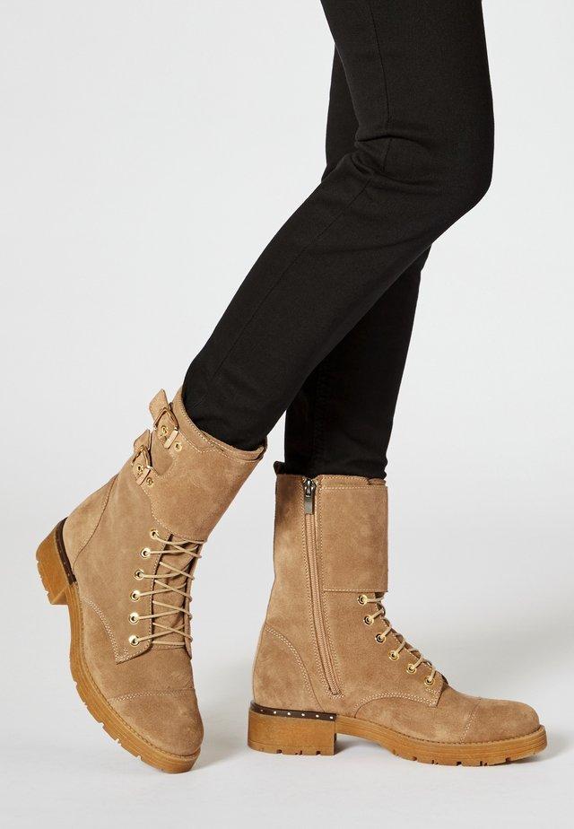 NIETEN - Cowboy/biker ankle boot - beige