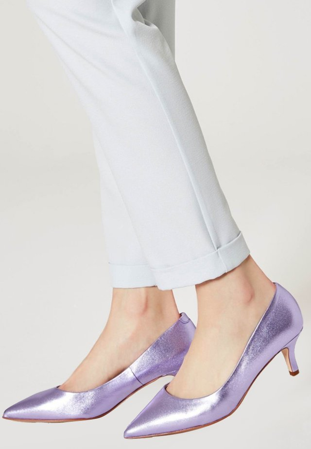 Klassieke pumps - purple metallic
