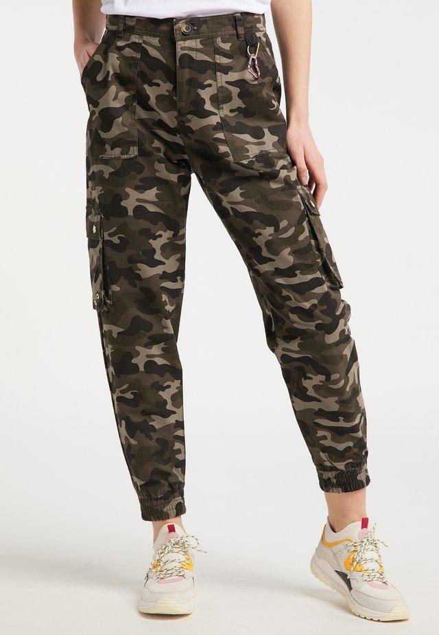 Spodnie materiałowe - camouflage