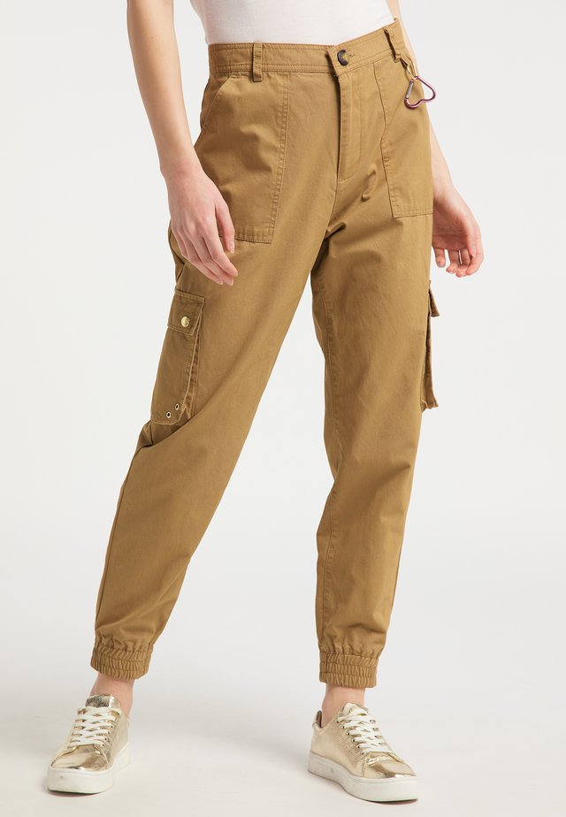 Spodnie materiałowe - dark sand
