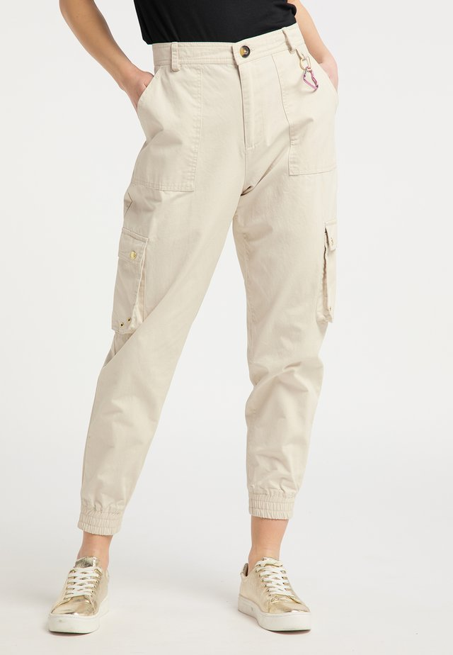 Spodnie materiałowe - cream
