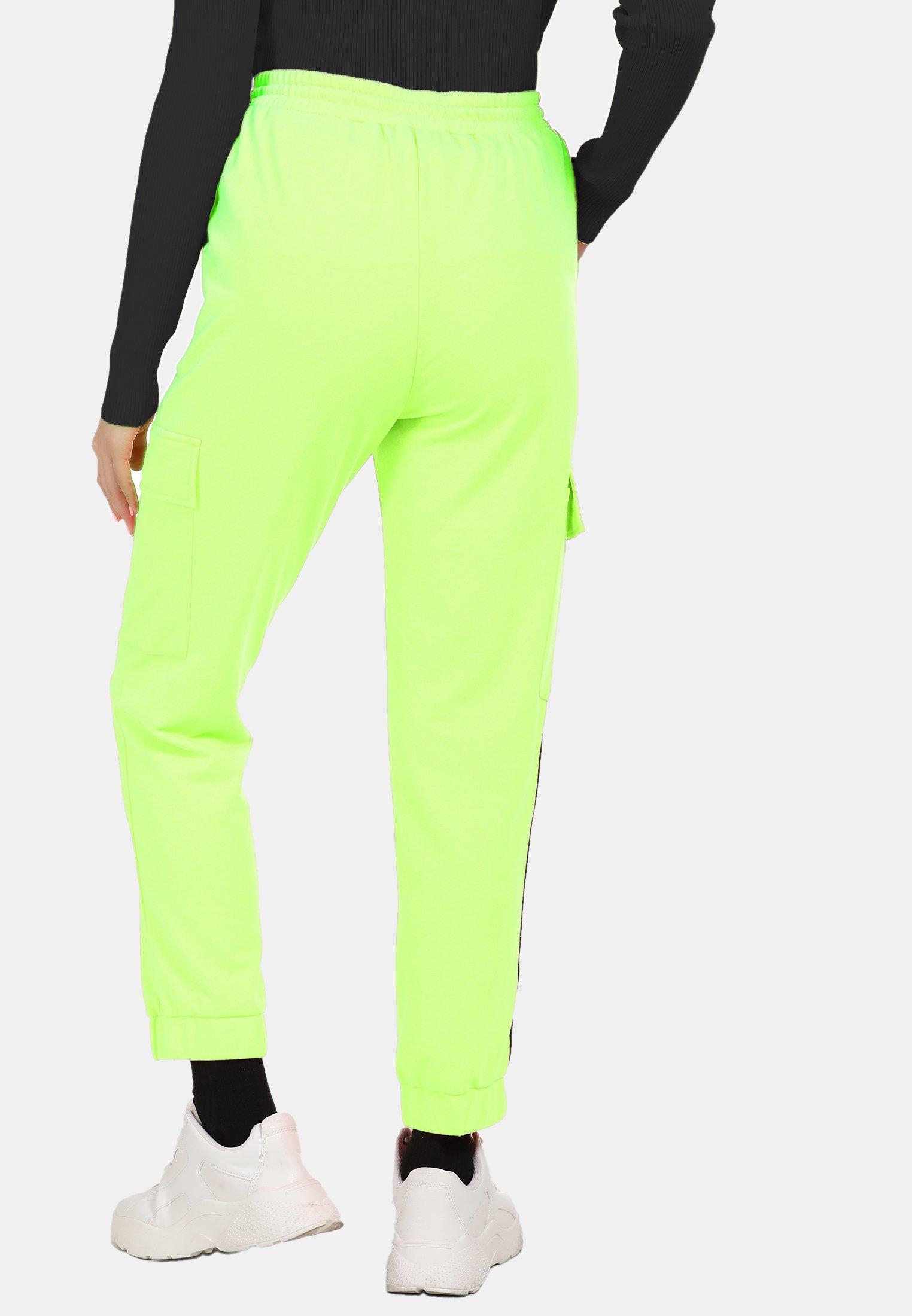 myMo Spodnie treningowe - neon green