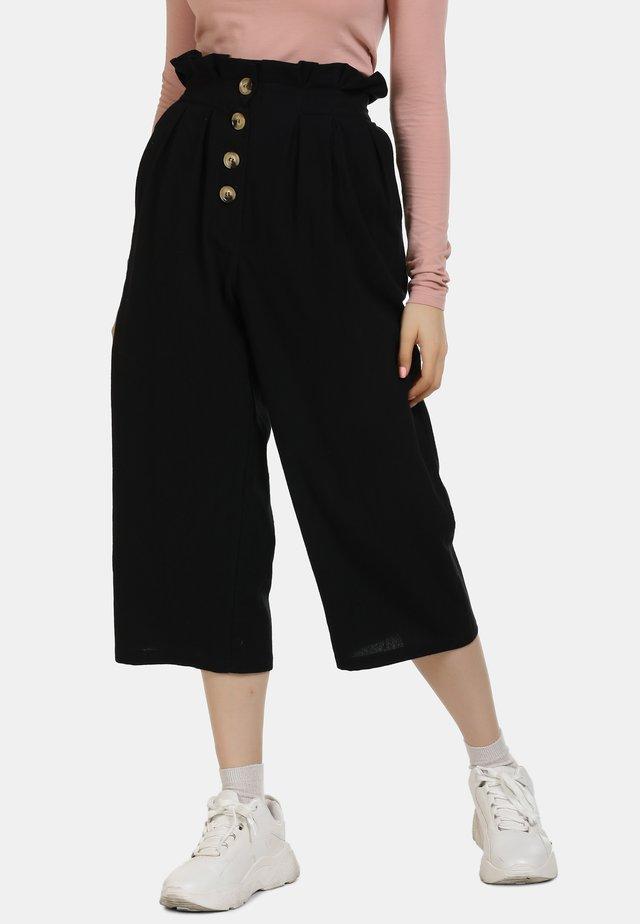 HOSE - Spodnie materiałowe - schwarz