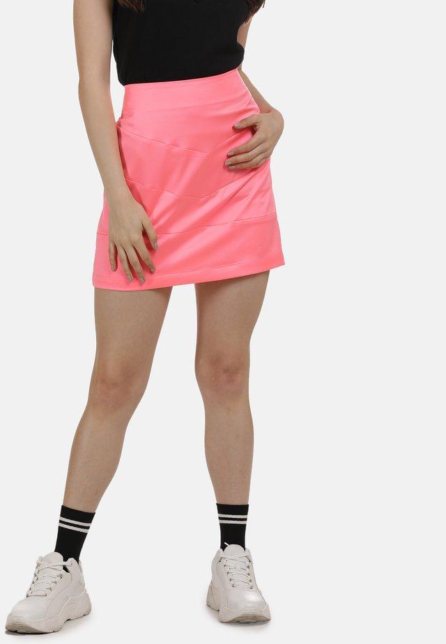 ROCK - Spódnica trapezowa - neon pink