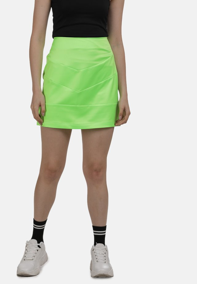 ROCK - Spódnica trapezowa - neon grün