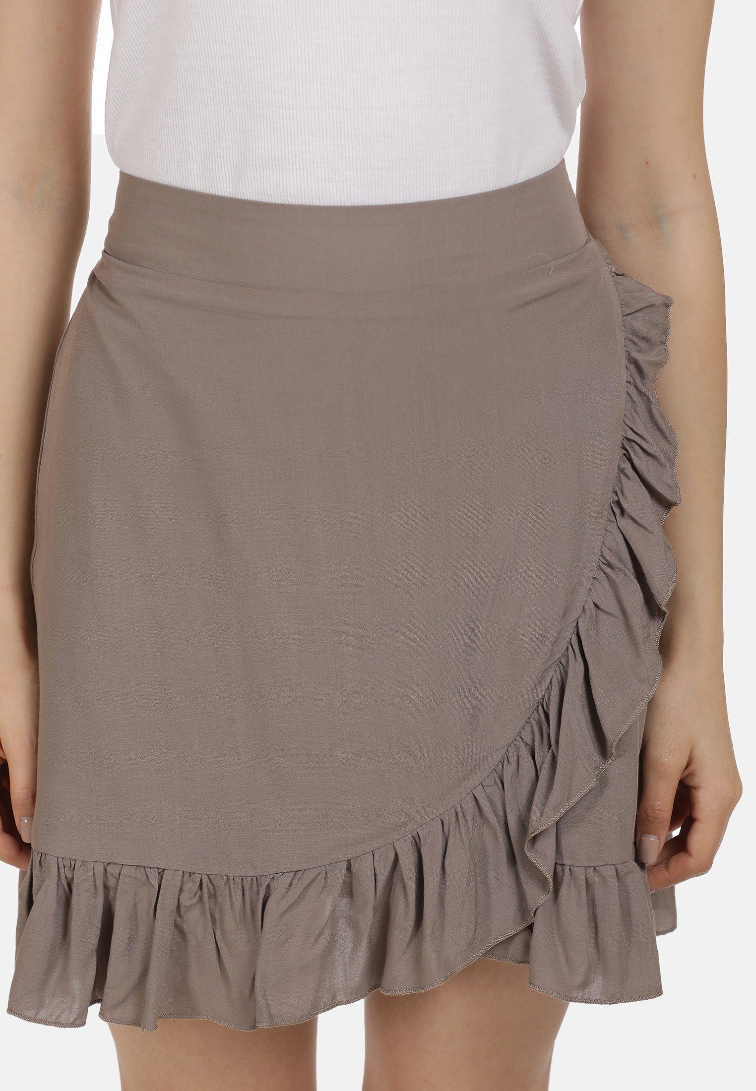 myMo MINIROCK - A-snit nederdel/ A-formede nederdele - taupe