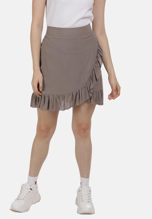 MINIROCK - A-snit nederdel/ A-formede nederdele - taupe