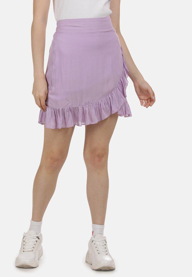 MINIROCK - A-snit nederdel/ A-formede nederdele - flieder