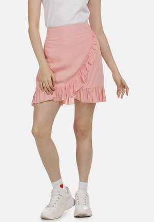MIDIROCK - Wrap skirt - nude