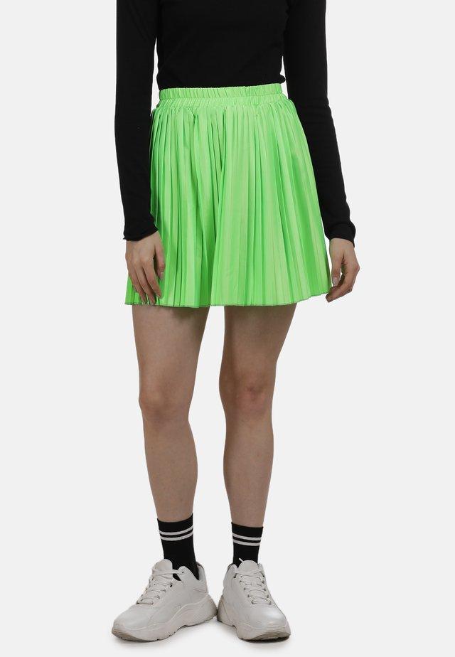 ROCK - Spódnica plisowana - neon grün