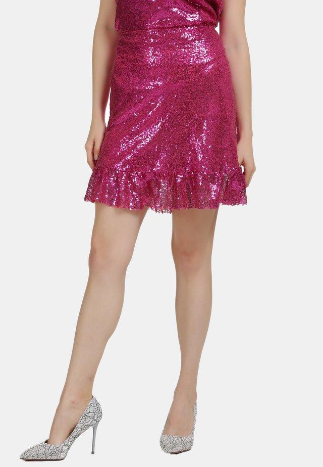 ROCK - Spódnica trapezowa - pink