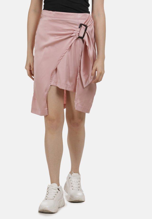 Spódnica z zakładką - rosa