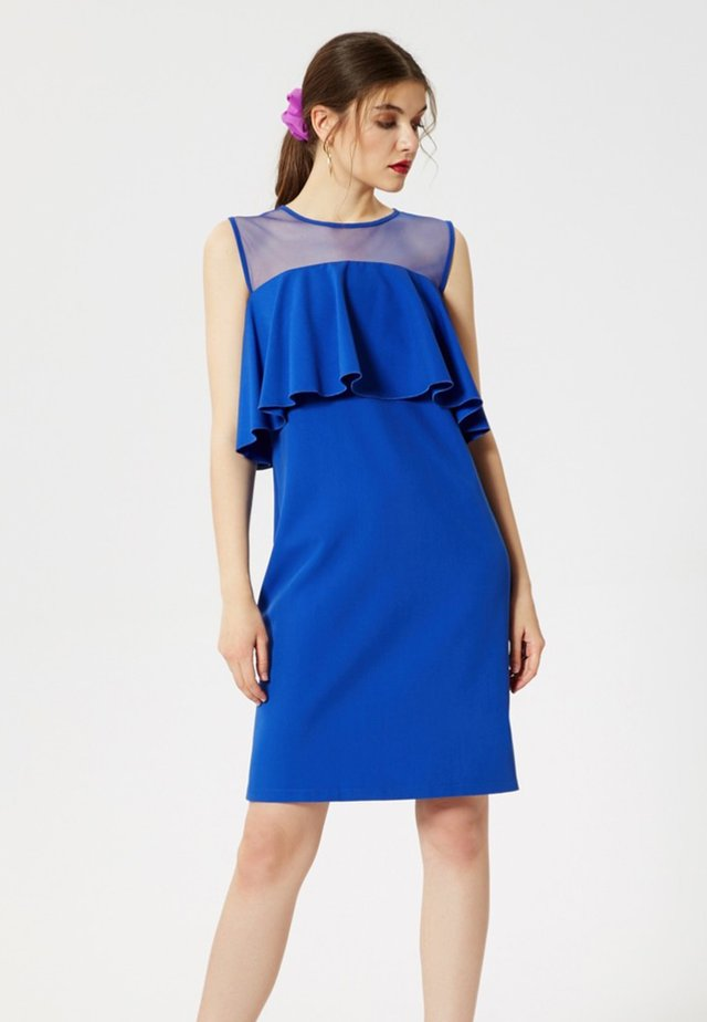 Sukienka etui - saphir