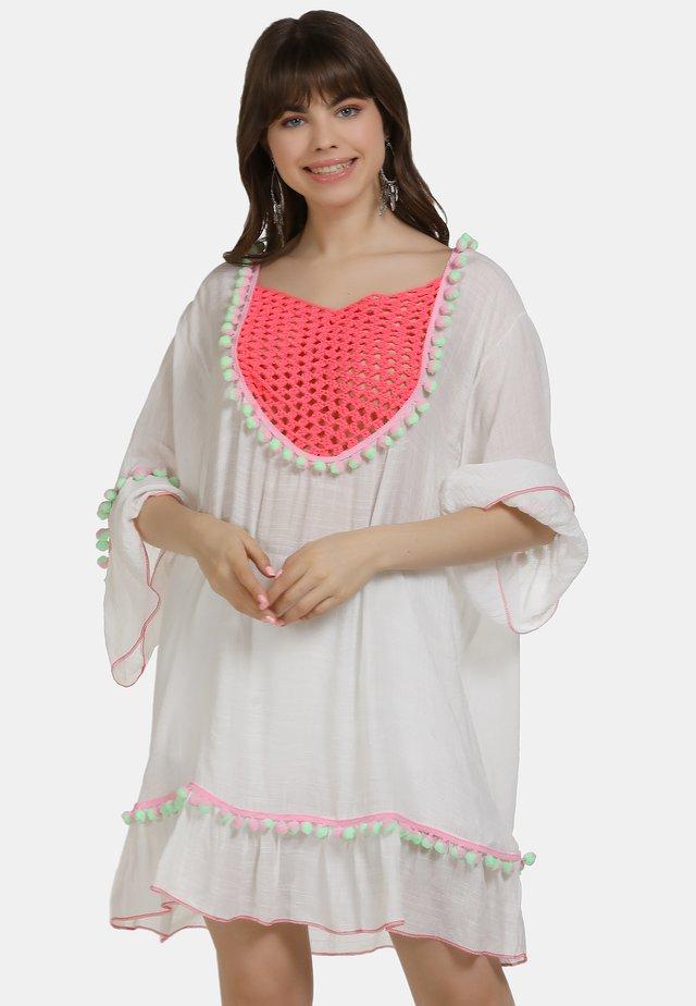 TUNIKAKLEID - Korte jurk - wollweiss