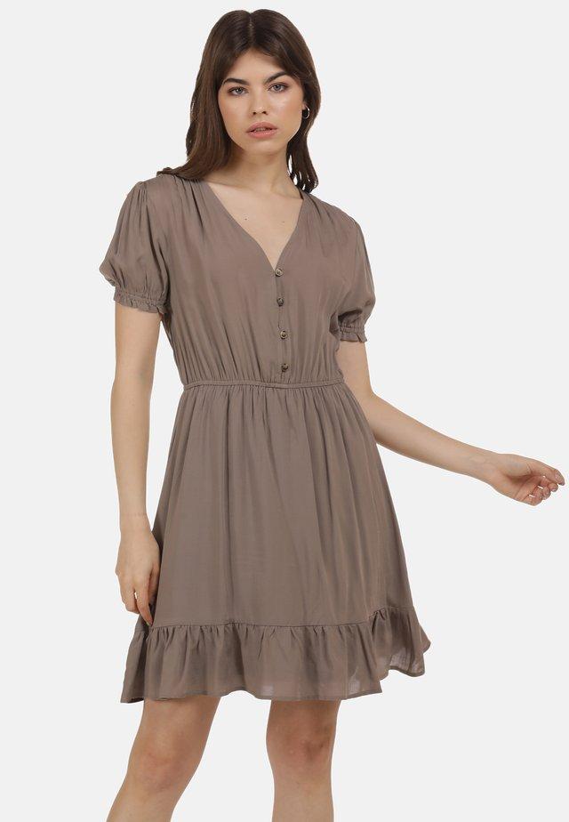 MIDIKLEID - Korte jurk - taupe