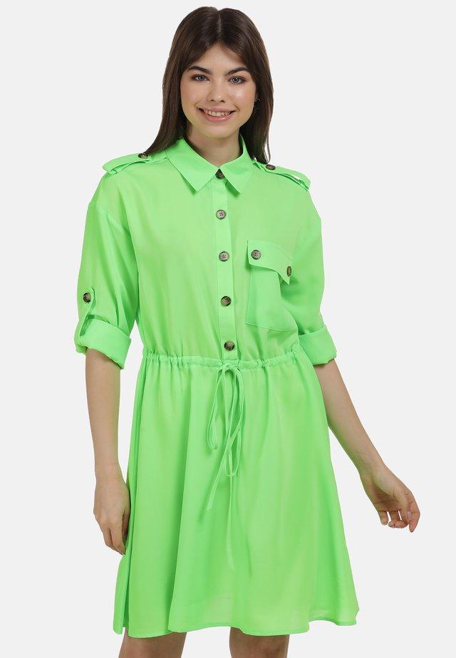 KLEID - Blousejurk - neon grün