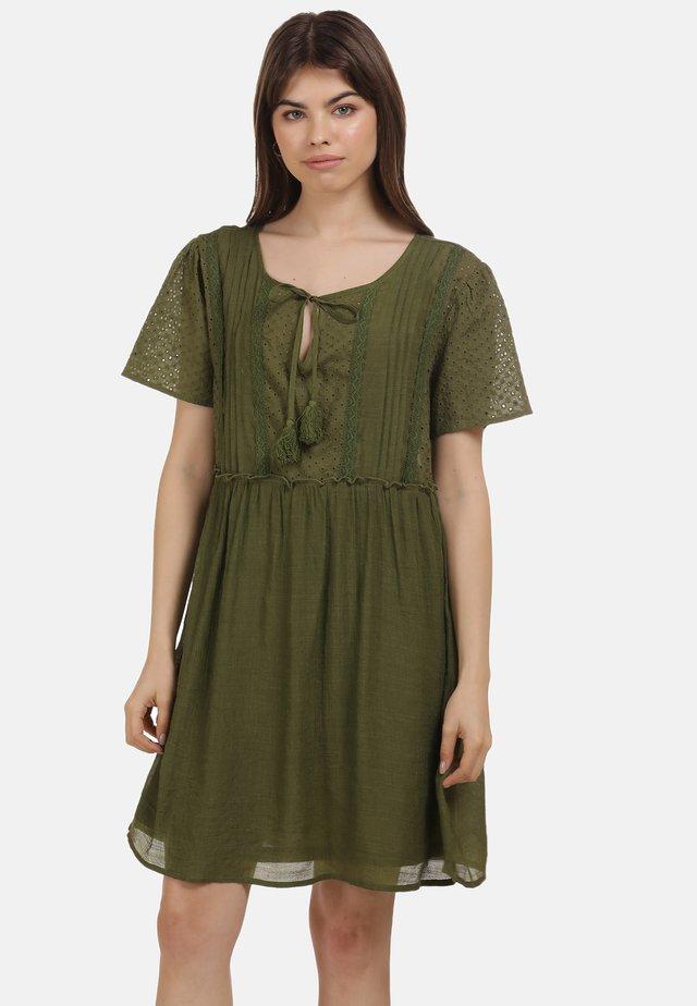 Korte jurk - oliv