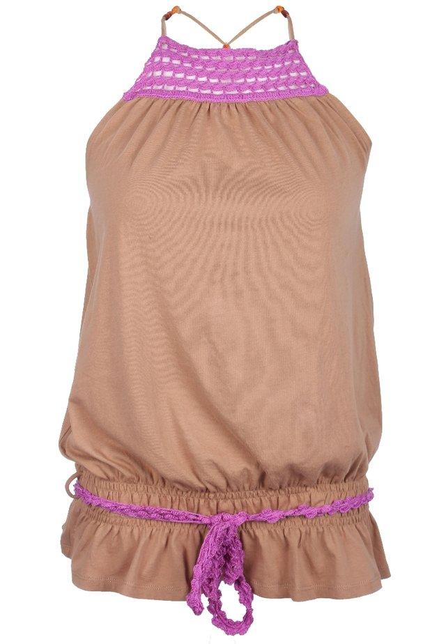 Top - braun/pink