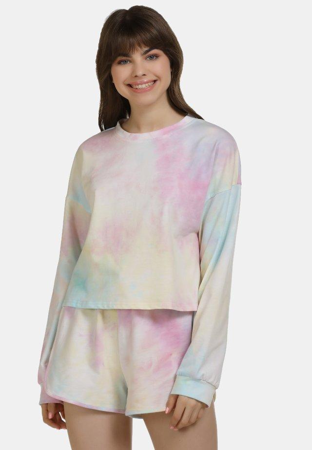 Langærmede T-shirts - pink/blue