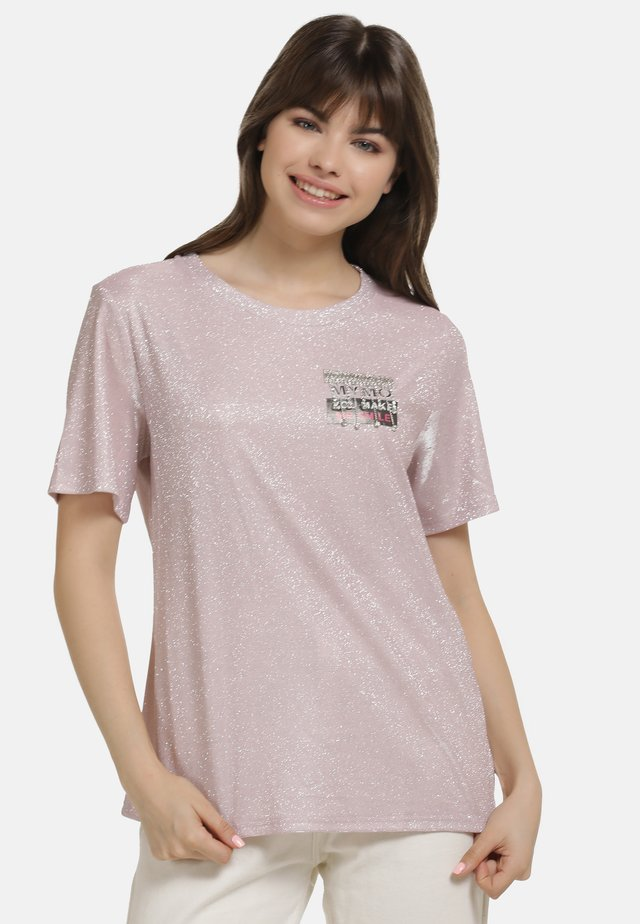 SHIRT - Print T-shirt - rosa glitzer