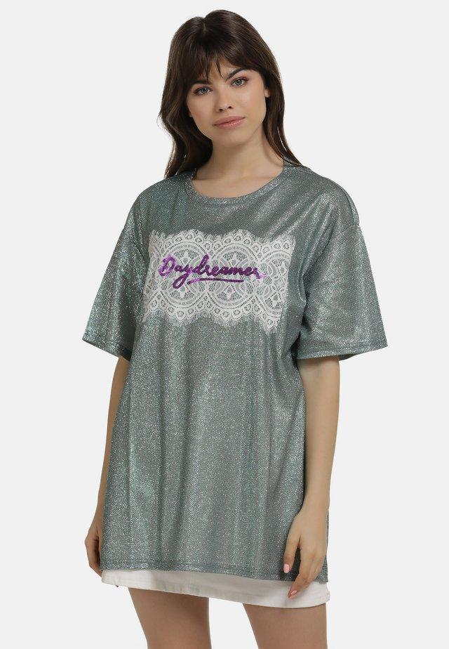SHIRT - T-shirt con stampa - minze glitzer