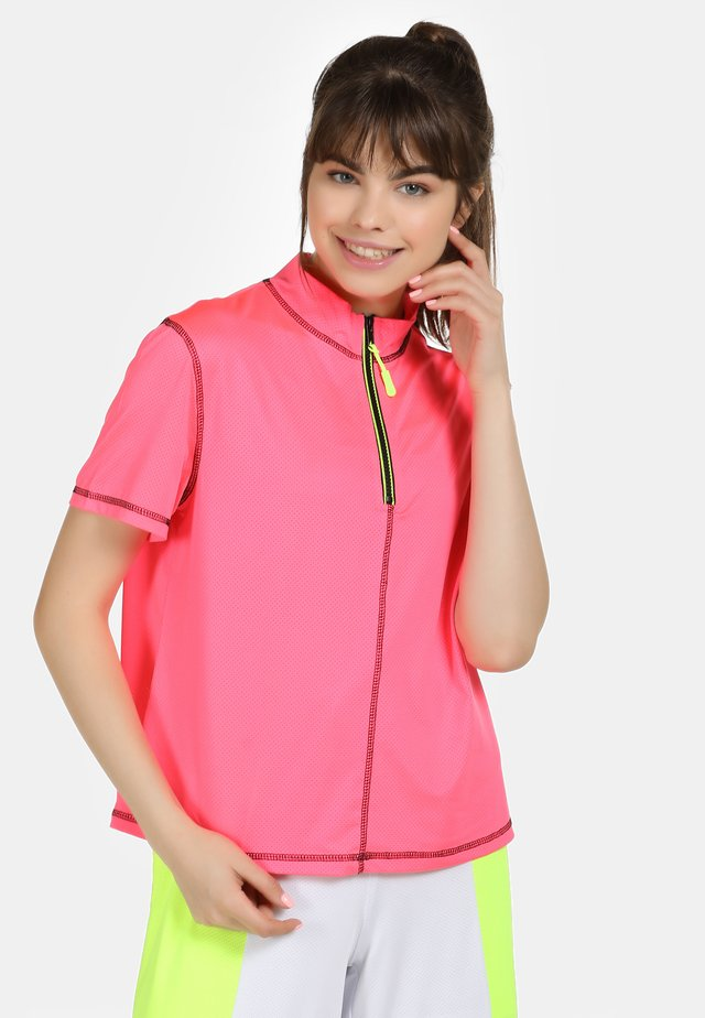 T-shirt con stampa - neon pink