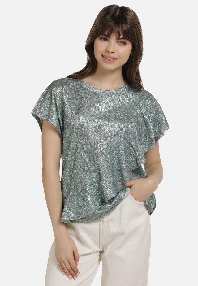 SHIRT - T-shirt imprimé - minze glitzer