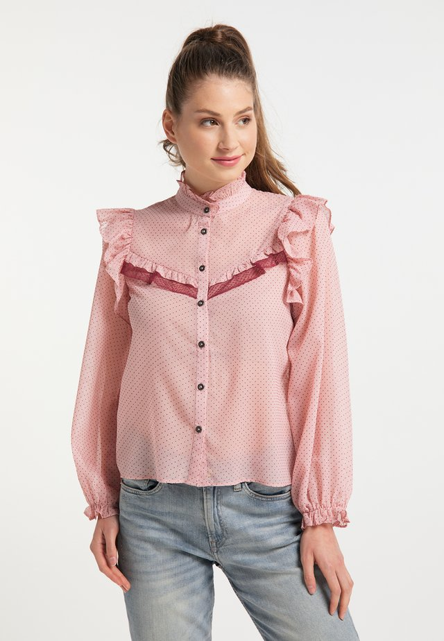 Button-down blouse - nude beere