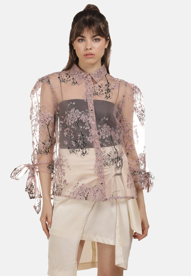 Button-down blouse - rosa champagner