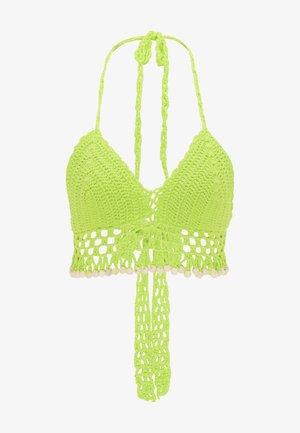 Top de bikini - neon grün