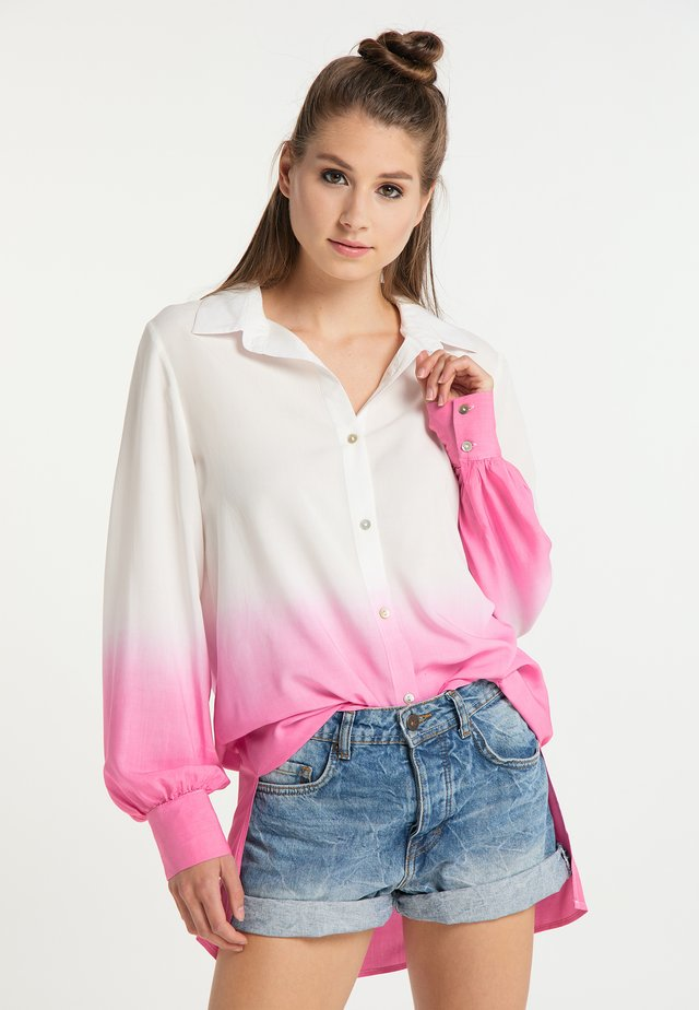 Button-down blouse - weiss pink