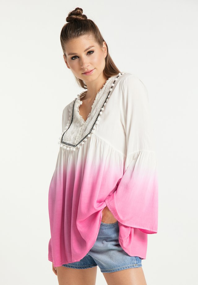Blouse - weiss pink