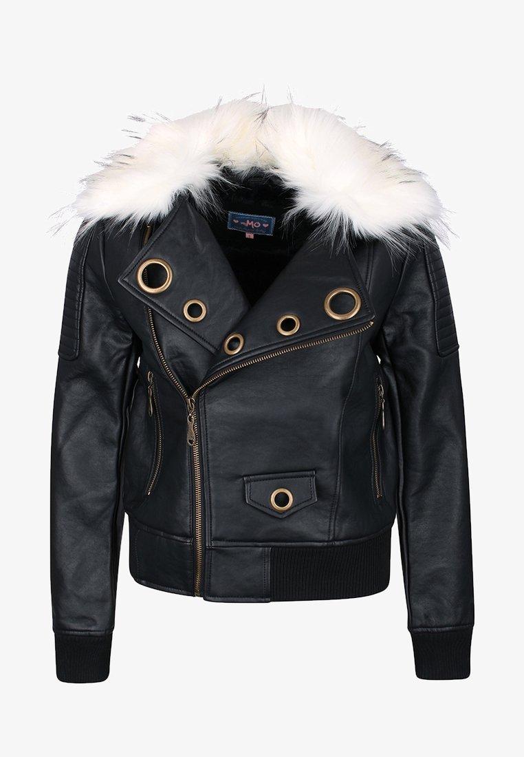 myMo - Faux leather jacket - black
