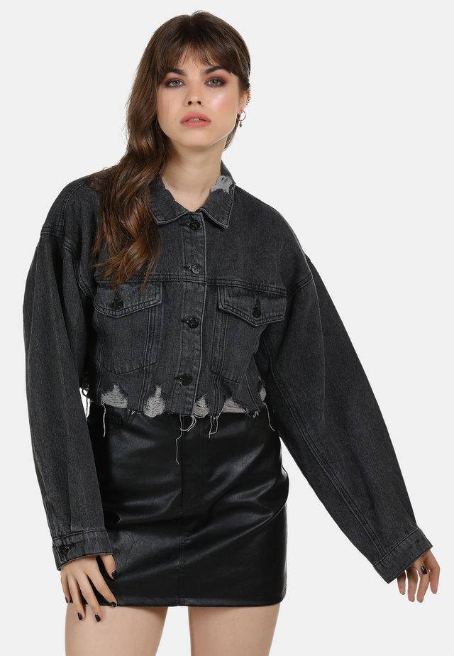 Spijkerjas - black