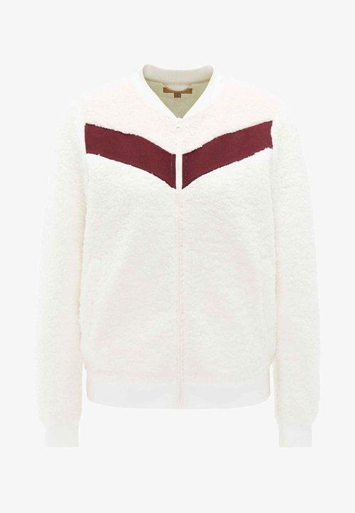 dobrze rozwinięty myMo Kurtka z polaru - white Odzież Damska KFEC-YH5