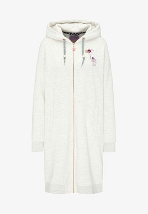 Zip-up hoodie - wool white