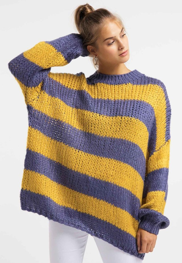 Sweter - purple mustard
