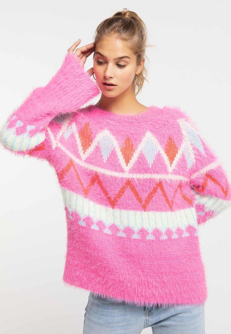 myMo - Sweter - neon pink