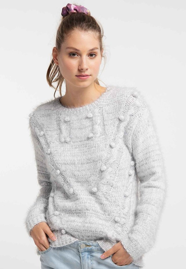 Strickpullover - grey/white