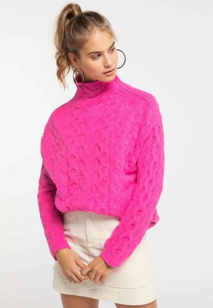 Pullover - neon pink