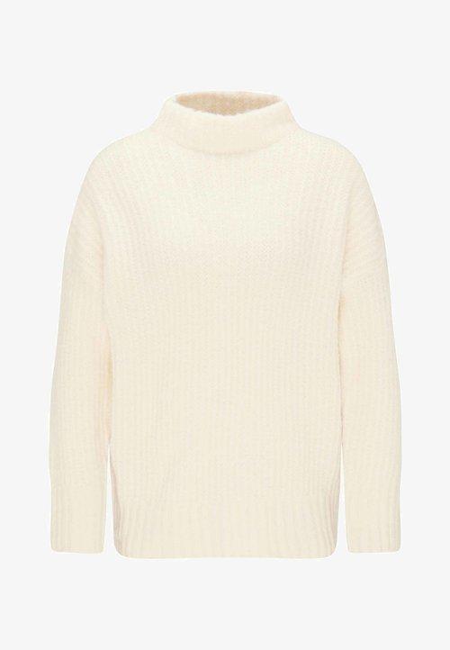 dobrze rozwinięty myMo Sweter - white Odzież Damska UDBB-LX2