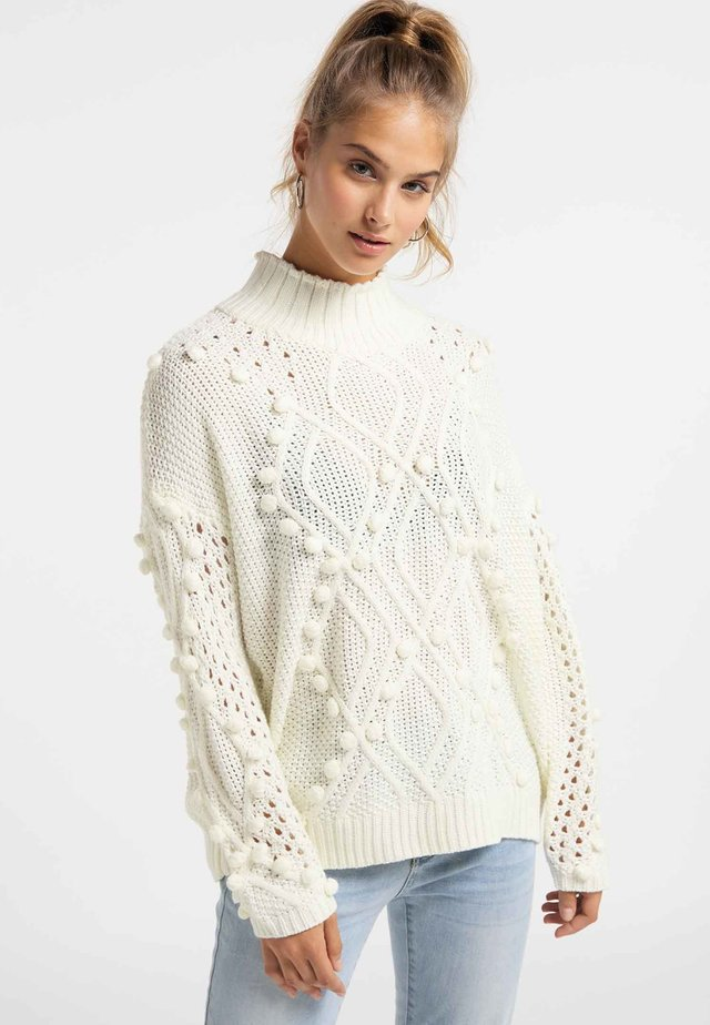 Sweter - wool white