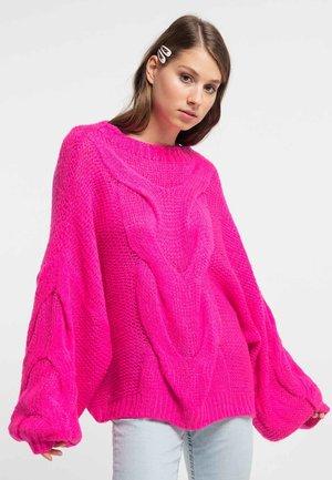 Jersey de punto - neon pink