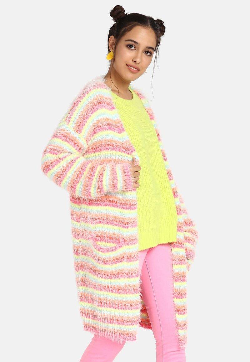 myMo - Strickjacke - pink striped